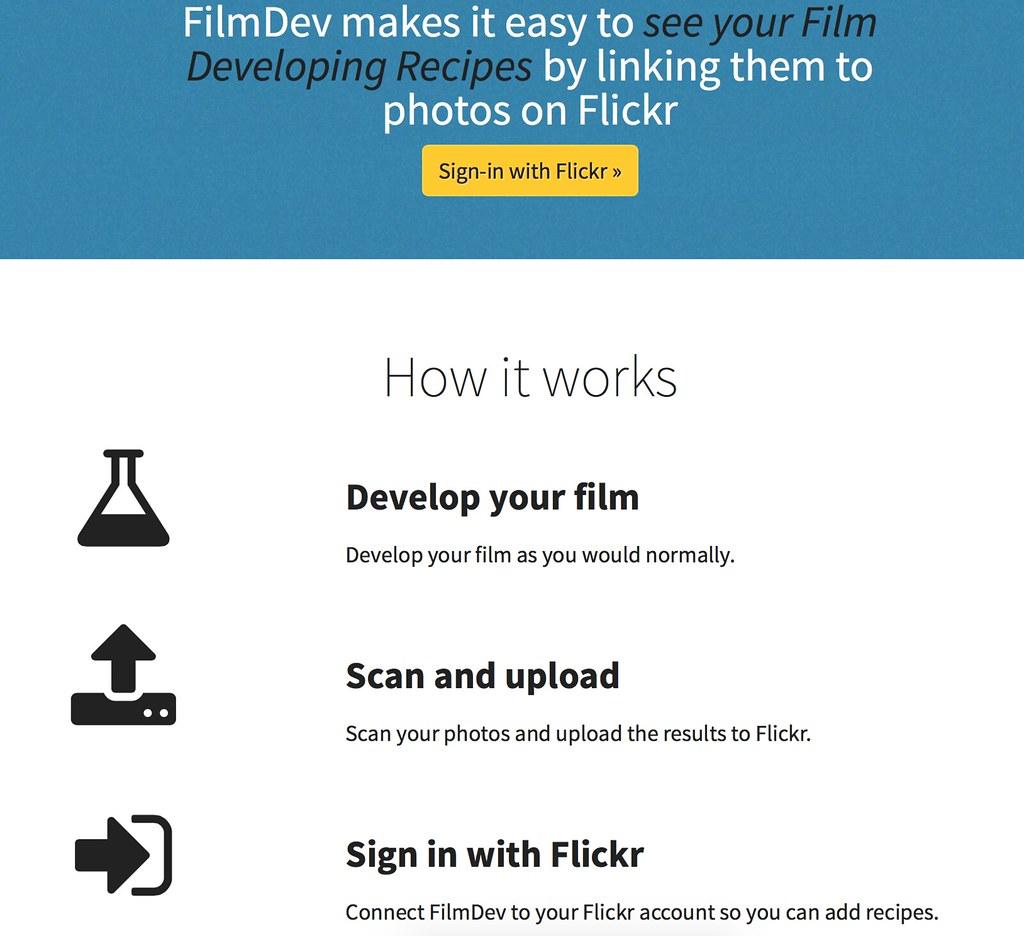 FilmDev Sign Up | The sign up page for FilmDev  | boncey
