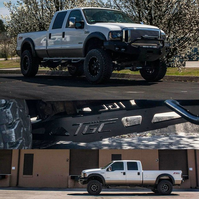 White F-350 Super Duty with our TGC 8