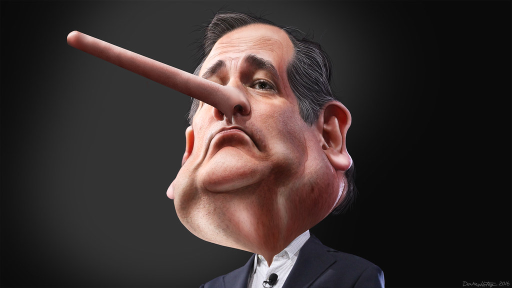 Lyin' Ted Cruz - Caricature, From CreativeCommonsPhoto