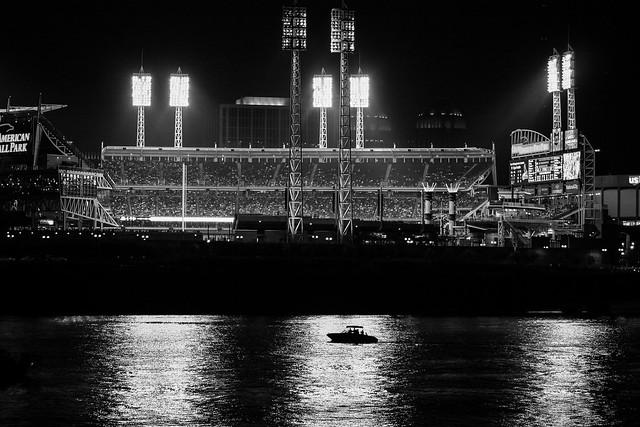 Night game at Great American Ballpark