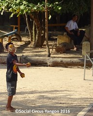 Thanlyin Boys circus Headmaster looks on