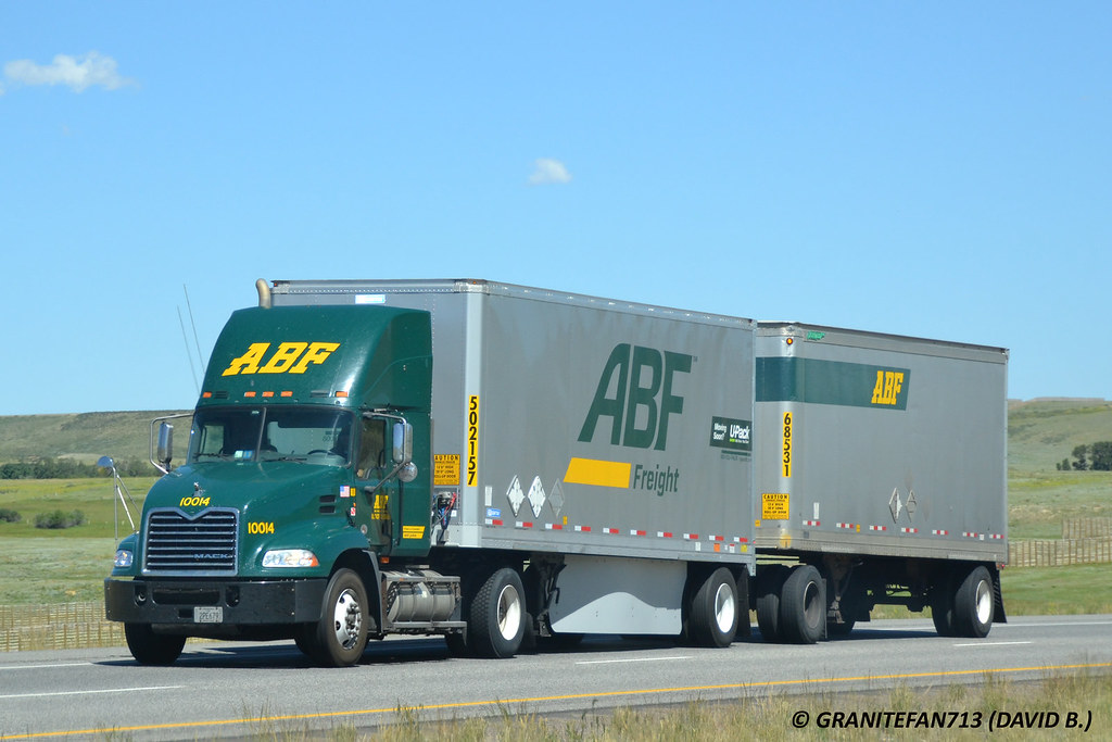 ... ABF Freight Mack Pinnacle with Doubles (WY) | by Trucks, Buses, &