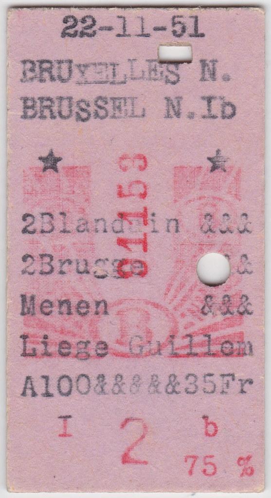 Bruxelles Nord - Liège Guillemins 1951