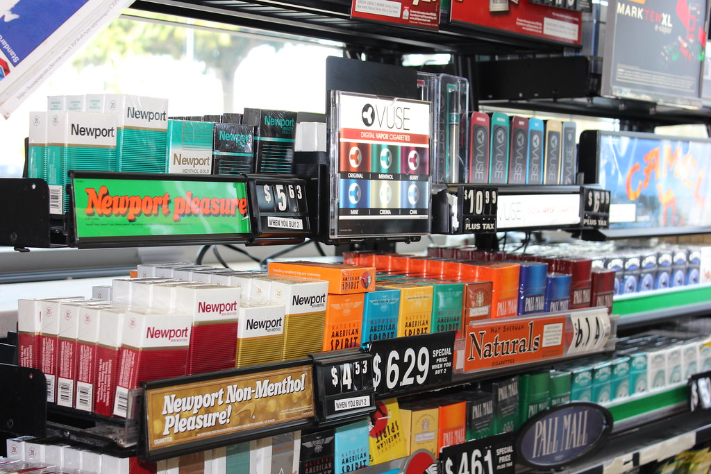 E-Cig Display at Gas Station