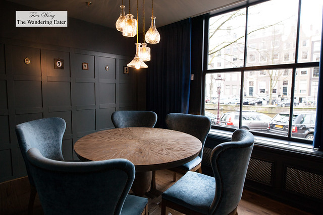 Private dining room with view of canal