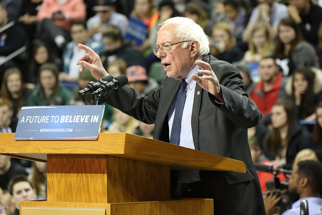 Bernie Sanders Rally at Kress Events Center