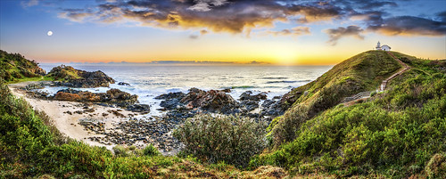 blue sky sun seascape texture beach nature yellow sunrise landscape interesting rocks colorful whitewater nsw portmacquarie minersbeach panoramaphotography tackingpointlighthouse