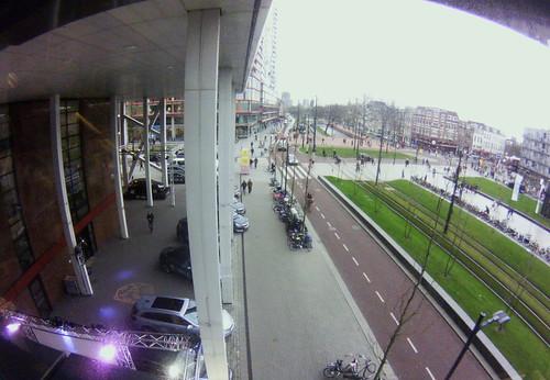 a fisheye view from De Doelen