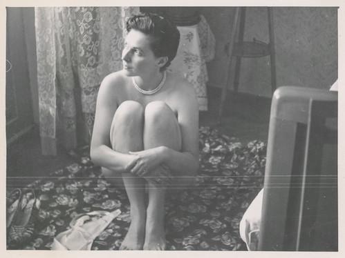 Pretty woman teases in her underwear 5