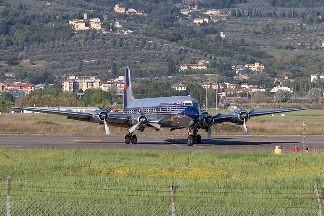 Flying Bulls Douglas DC-6B OE-LDM - Florence Peretola Airport