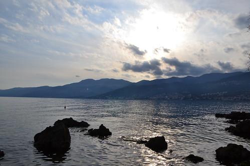 sea sky mountain rocks croatia opatija adriatic adriaticsea rijeka lovran bivio volosko ucka cloudsy učka