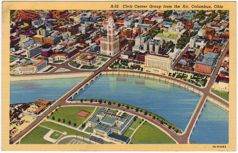 Capitol Square, in the Heart of Columbus, Ohio (1945)