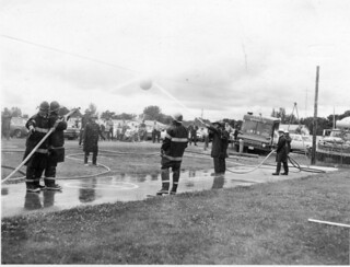 Fire Dept - waterball competition - c1978