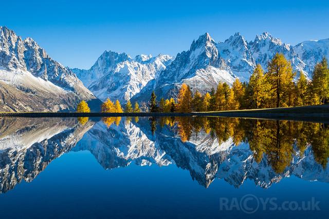 Flegere lake reflections, Chamonix-Mont-Blanc, France