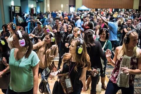 Silent Storm powers The World Beer Fest silent disco once again in 2016 featuring DJ V | by Silent Disco