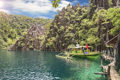 sea nature landscape asia philippines twin el lagoon nido coron elnido