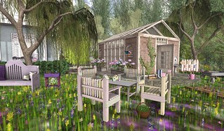 Finishing Touches For the Birds Garden Set & TMS Greenhouse | by Hidden Gems in Second Life (Interior Designer)