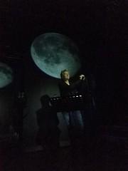 Anne Clark under a full moon