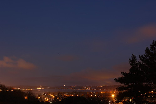 ireland sky water night lights long exposure lough cork iss mahon