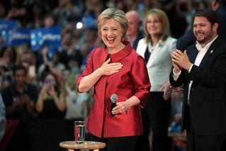 Hillary Clinton, Gabrielle Giffords & Ruben Gallego | by Gage Skidmore