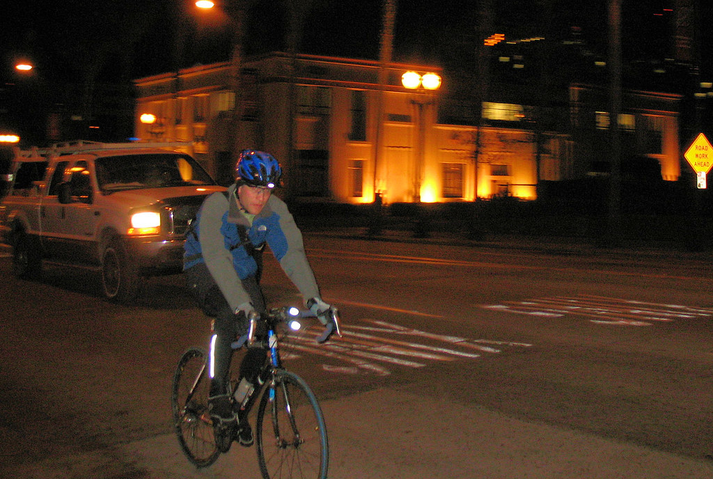 Night cycling San Jose California