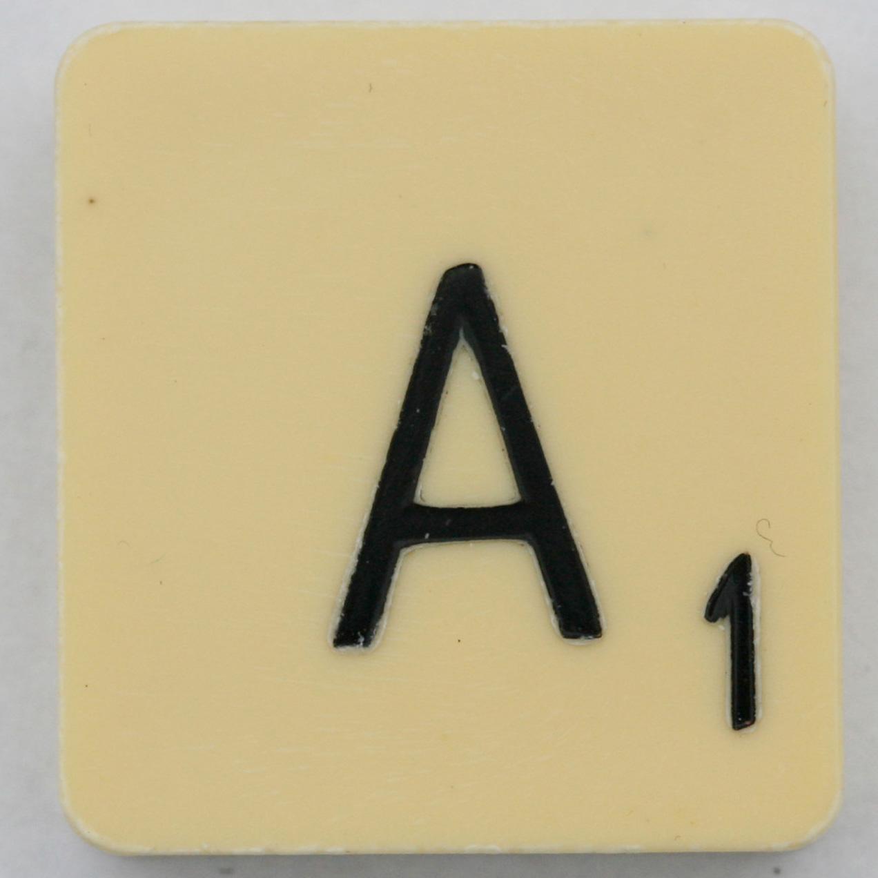 Scrabble Letter A