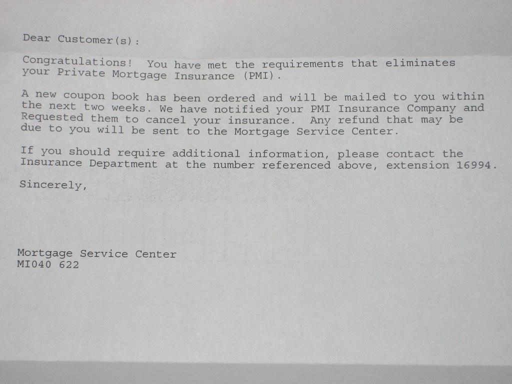 PMI Removal Letter | edkohler | Flickr