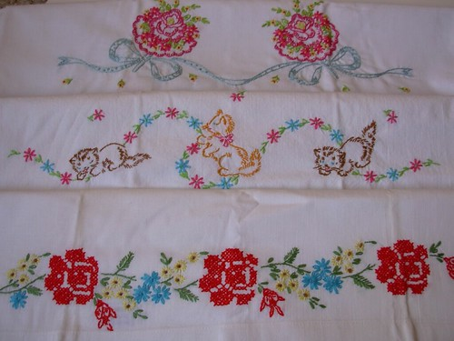 thrifted:  vintage embroidered pillowcases | by eren {sea+prairie}