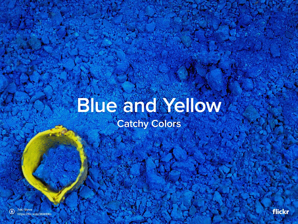 Catchy Colors - Blue and Yellow