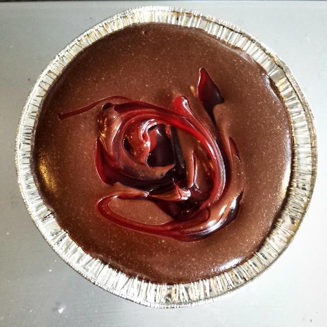 Mini Chocolate-Cherry Cheesecake Tart