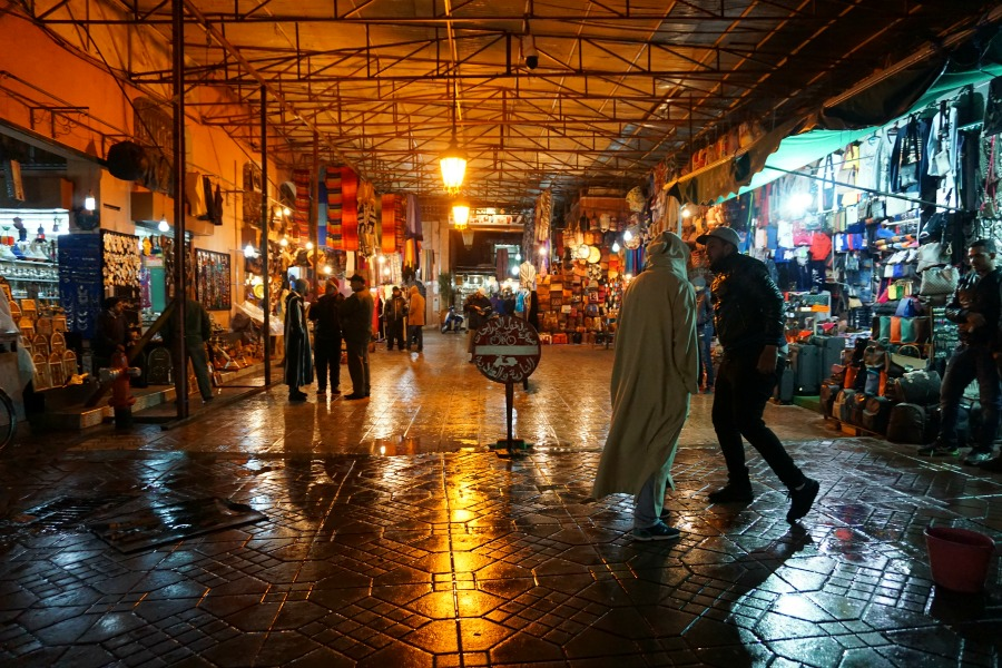 Exploring the Souks at Night