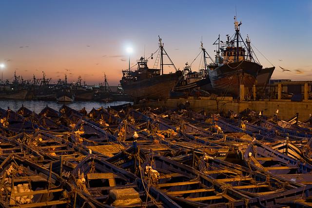 Essaouira Port at Twilight