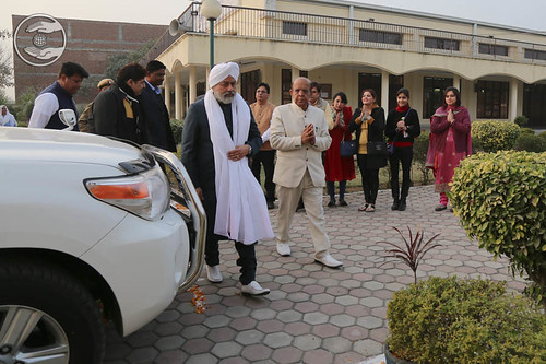 Arrival of His Holiness at Satsang Bhawan