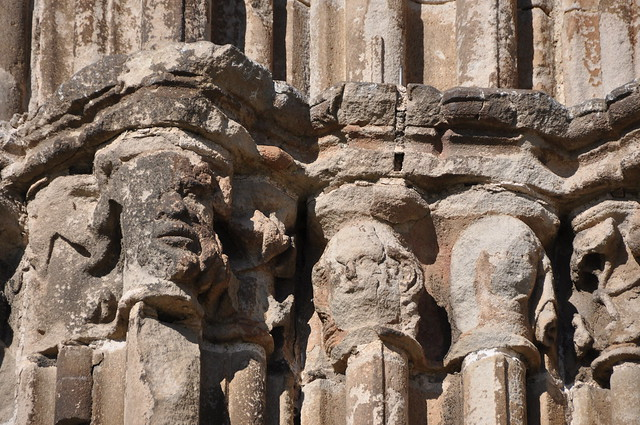 Sant Adrià de Besòs. Former portal of the carmelite convent of Barcelona. 14th C.