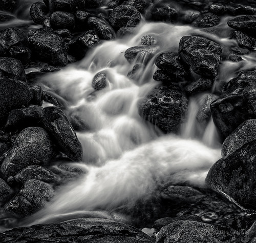 blackandwhite canada monochrome rocks britishcolumbia parks streams creeks westvancouver flowingwater lawsoncreek flickrelite sonycameras tamronlenses douglaswoodwardpark municipalparks