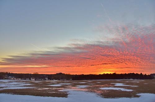 winter sunset snow reflection nature beautiful clouds illinois nikon colorful prairie lakecounty firey nikkor18200mm stevelamb d7200