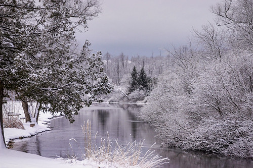 explore winter river michigan northern landscape water nature snow explored canonflickraward greatphotographers
