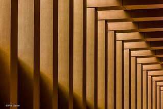 Abstract detail of Union Station to Pearson Airport express train station | by Phil Marion