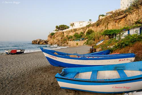 beach june sunrise spain sand nikon mediterranean andalucia espana costadelsol andalusia fishingboats fishingboat pescador nerja 2012 balcondeeuropa nikond80 lr5 1685mm 1685mmf3556 160850mmf3556 imdkb