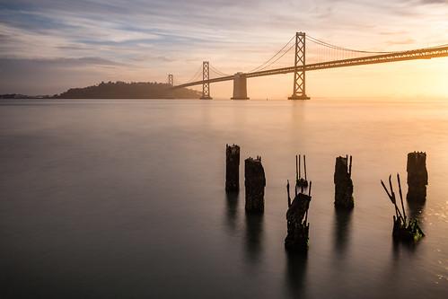 canonef1635f4lis 6d sunrise canon sanfrancisco travel california unitedstates us ngc city bridge island oakland morning light