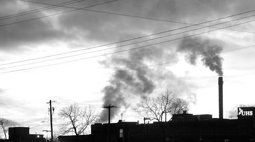 winter newyork sunrise blackwhite earlymorning smokestacks johnsoncity