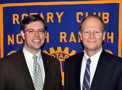 President Chris Morden poses with today's speaker former Mayor Charles Meeker.