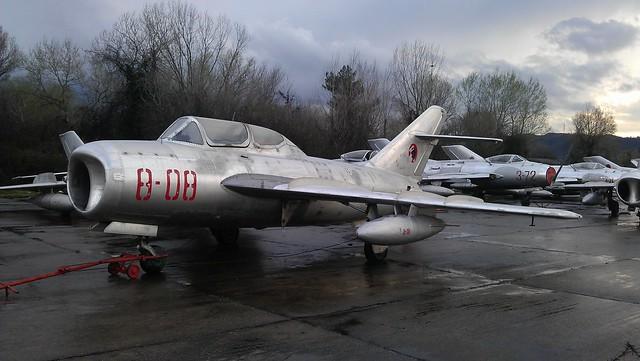 Shenyang FT-5 8-08 c/n 551308 ex Albanian-AF. (Stored Tirana-Rinas airfield, 14-03-2013)