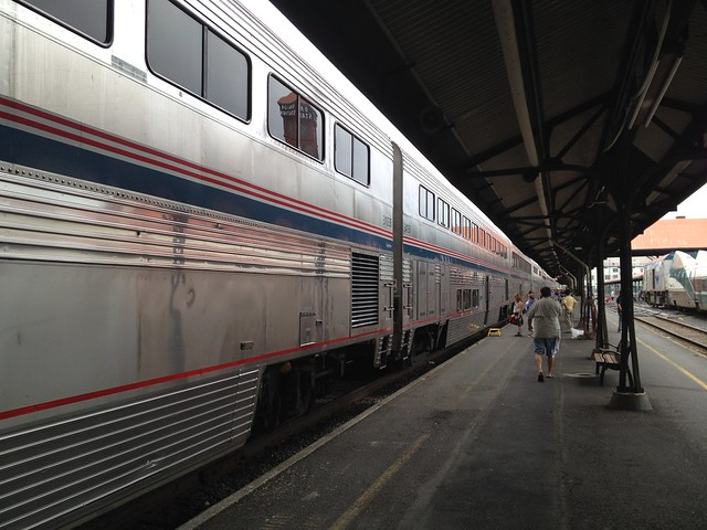 Our train at Union Station, Portland
