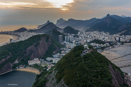Rio de Janiero (Copacabana, Urca and Botafogo) as seen from Sugarlaof Mountain | by Phil Marion (173 million views - THANKS)