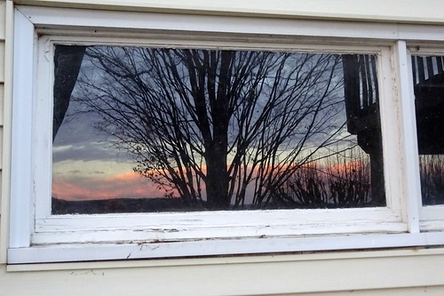 winter sunset newyork reflection earlyevening oldwindow endwell