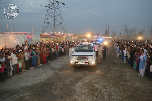 Arrival of His Holiness in Satsang venue