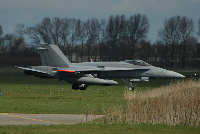 F-18C Hornet HN-438/38 Havlvv-11/31 Finnish-Air-Force. Leeuwarden Air-Base, Netherlands. 08-04-2016.
