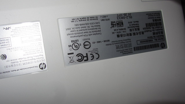 IMG_4199 HP color laserjet pro M252dw ser num