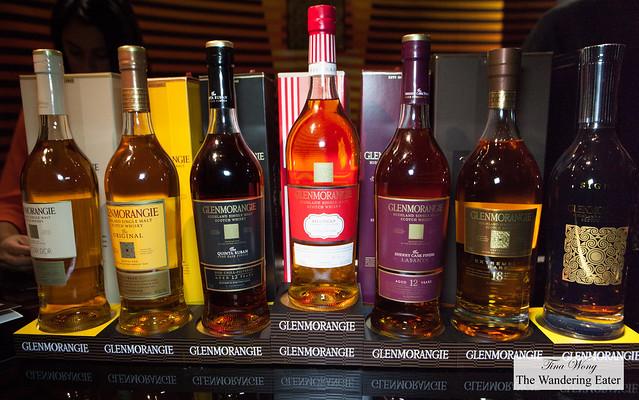 Full line-up of Glenmorangie Scotch Whiskies